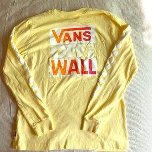 Vans Off the Wall long sleeve yellow T-shirt